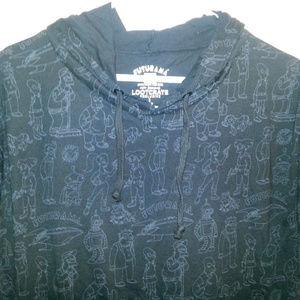 Lootcrate Futurama short sleeve hoodie L Large